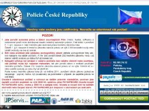 Ransomware, web PČR